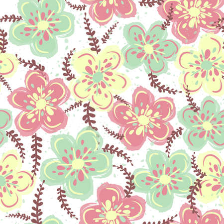Cute Floral pattern in the flower. Seamless vector texture. Elegant template for fashion prints. Vector illustration