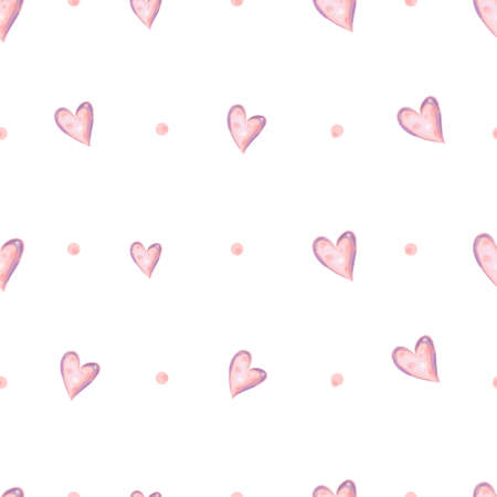 Heart seamless pattern. Small hearts seamless vector background