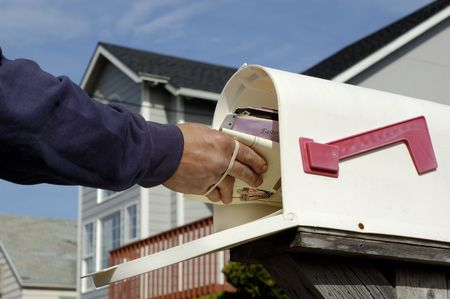 suburbia: Mail Delivery Stock Photo