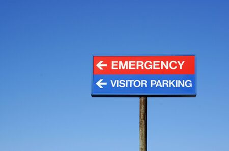 emergency room: Hospital Sign