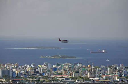 Twin Otter Seaplane And The City