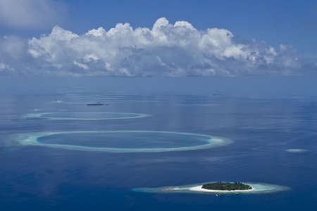 Coral reef atolls in Maldives Stock Photo - 11695053