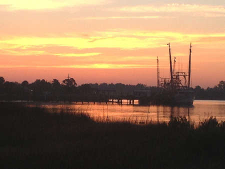 shrimp boat: Shrimp Boat Sunrise