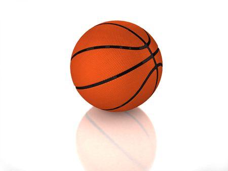3D standard glossy basketball