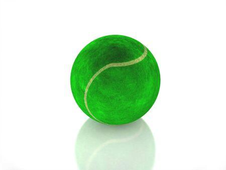 3D tennis ball on white background