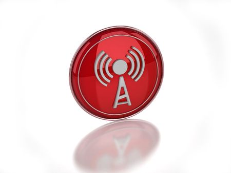 3D wi-fi disabled icon isolated on white background Banco de Imagens