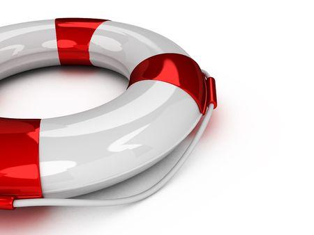 3d Lifebuoy isolated on white background Banco de Imagens