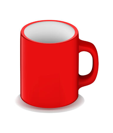 3d red empty cup Illustration