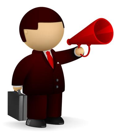 announcements: Public speaker concept