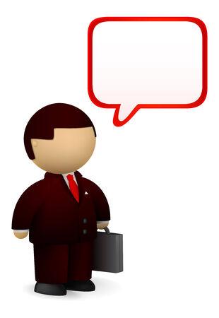 Businessman giving a speech Stock Vector - 6983195