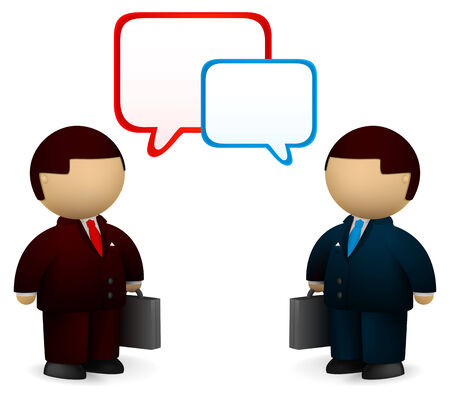 Two businessmen talking about business Stock Vector - 6983197