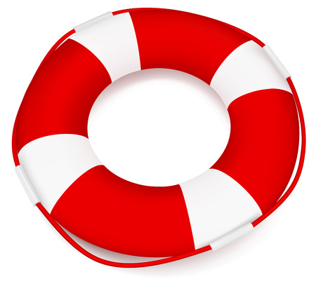 Lifebuoy isolated on white background Vector