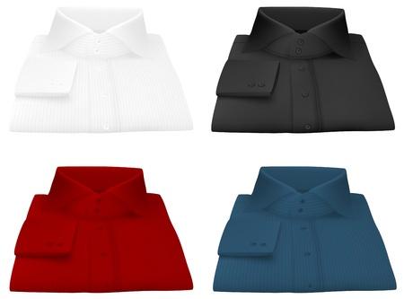 dry cleaned: Uomo bianco modello camicia piegata