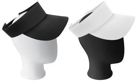 visor: Mannequin head with blank visor template
