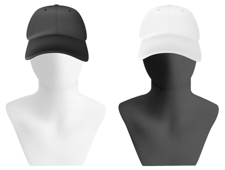 Mannequin head with blank visor template Stock Vector - 21646931