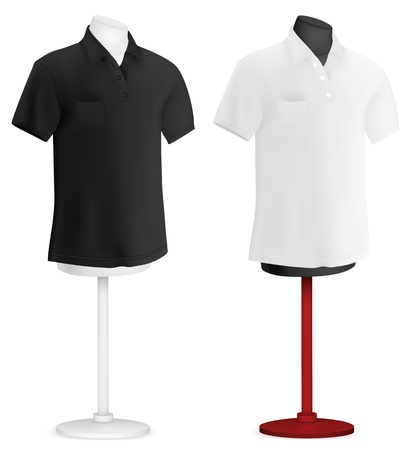 bust: Plain polo shirt on mannequin torso template  Illustration