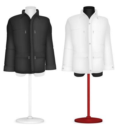 torso: Plain long sleeve jacket on mannequin torso template.