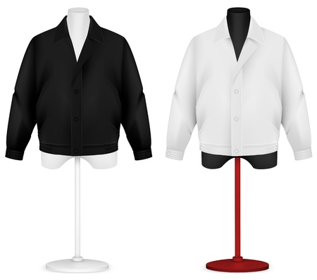 sleeve: Plain long sleeve jacket on mannequin torso template.