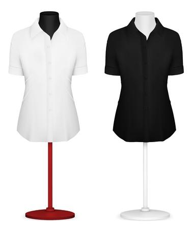 Classic women s plain blouse template Stock Vector - 21646929