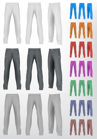 sweats: Sport sweatpants set. Isolated background.