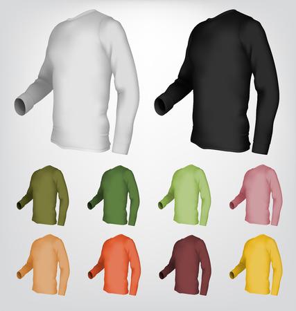 tshirt template: Long sleeve blank t-shirt template