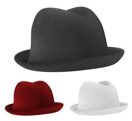 sophistication: Bowler hats set template. Illustration