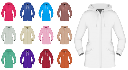 hooded: Plain hooded jacket template