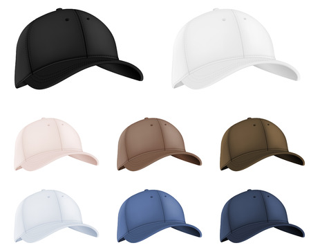 Baseball hats template set.