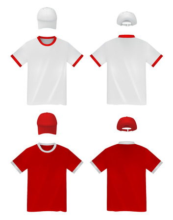 t shirt printing: Mens plain t-shirt template.