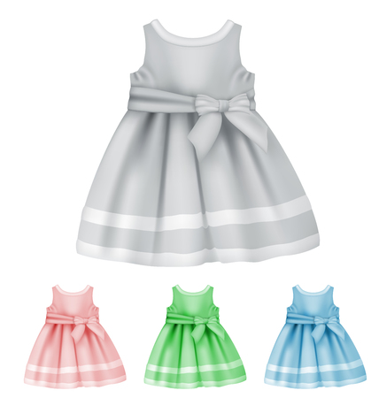 Baby dress blank template. Illustration