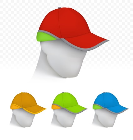 Safety cap in neon colors on mannequin head
