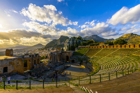 3rd century: The Ancient theatre of Taormina, constructed by the Greeks in the 3rd century BC is one of the most famous theatres in the world