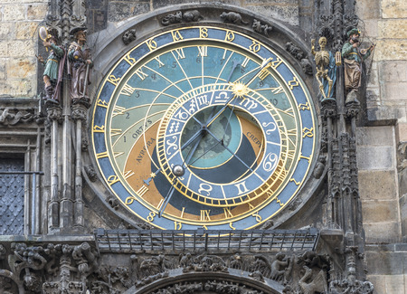 Astronomical Clock in Prague Imagens