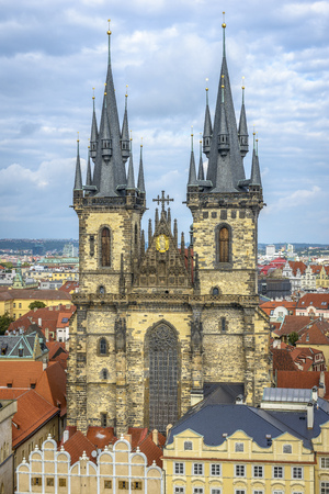 czech culture: Tyn Church in Prague, Czech Republic