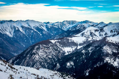 cote d'azure: French Alps in Auron, South of France