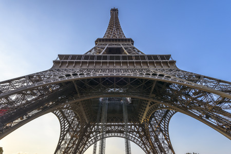 wideangle: Wide-angle view from beneath Eiffel Tower