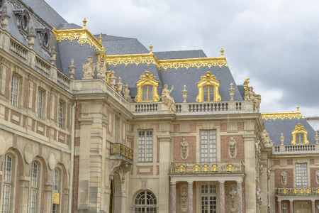 louis the rich heritage: Versailles Chateau exterior near Paris, France Editorial