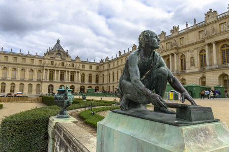 louis the rich heritage: Versailles Chateau and gardens view near Paris, France
