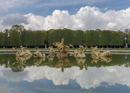 Fountain in Versailles Chateau near Paris, France