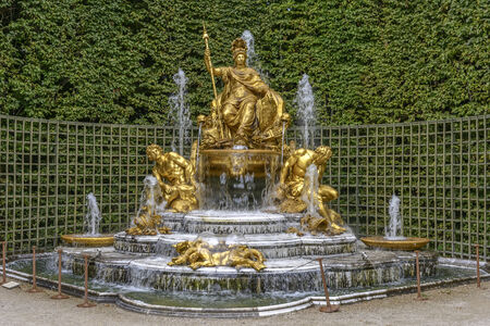 louis the rich heritage: Fountain in Versailles Chateau near Paris, France