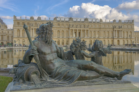 versailles Chateau, Statue and fountain view near Paris, France