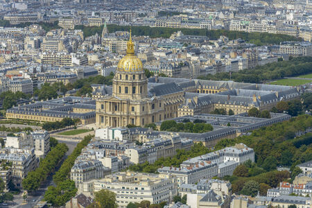 Aerial view of Les Invalides taken from Montparnasse Tower photo