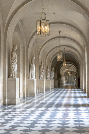 louis the rich heritage: Paris - August 31: Hall inside Versailles Chateau on August 31, 2013 in Paris, France