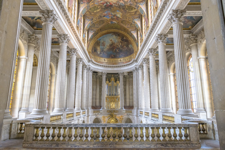 louis the rich heritage: Paris - August 31: Famous Royal Chapel inside Versailles on August 31, 2013 in Paris, France