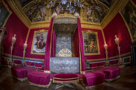 louis the rich heritage: Paris - August 31: Interiors, architectural details an decorated roofs of the Chateau de Versailles on August 31, 2013 in Paris, France Editorial