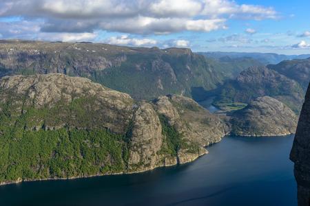 scandinavian peninsula: Lysefjorden view in Spring from Pulpit Rock in Norway