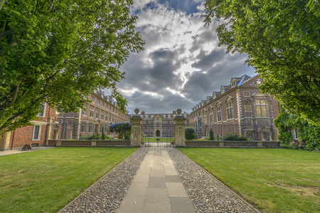 St Catharine's College aan de Universiteit van Cambridge, Engeland Stockfoto - 31007163