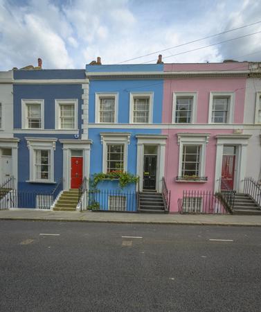 Pastel houses, Notting Hill - London, England