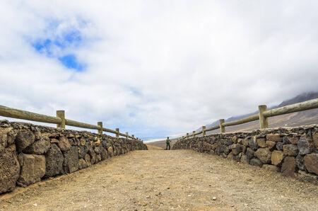 Path toward Cofete beach in Fuerteventura, Canary Islands