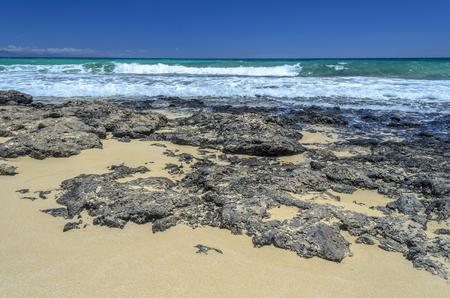 Beach at Corralejo, Fuerteventura, Canary Islands.